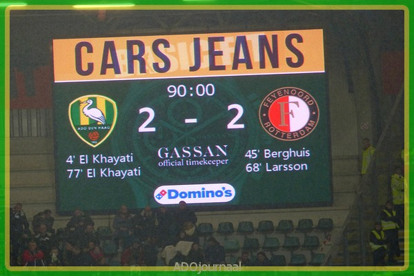 Ado Den Haag Knokt Zich Naar Punt Thuis Tegen Feyenoord Ado Journaal